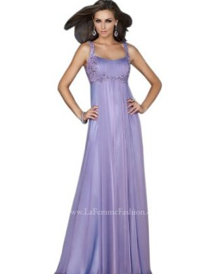 Purple Empire Waist Prom Dress Le Shape
