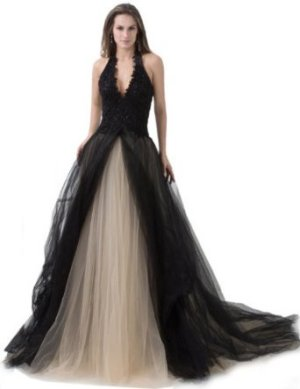 V Neck Prom Dress Le Shape