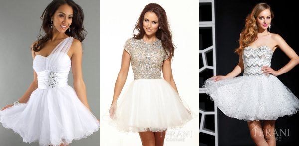 White Prom Dresses - Choosing Style, Makeup & Accessories